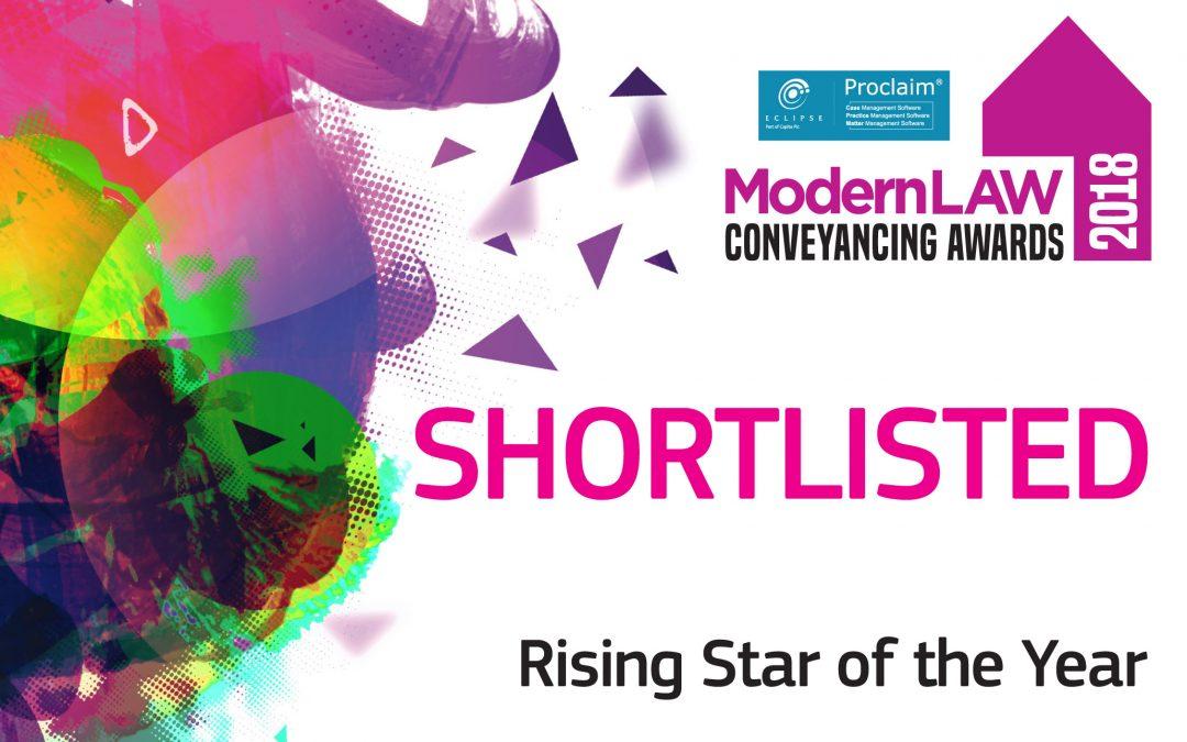 Catherine Booton shortlisted for Rising Star award at National Conveyancing Awards